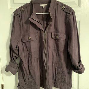 Military style grey jacket